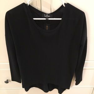 Lulus back zip sweater